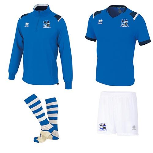 Combo 2- LARS 1-4 Zip+LUCAS Set+Zone Socks-Maree Oranmore FC-ERREA-M2Sport