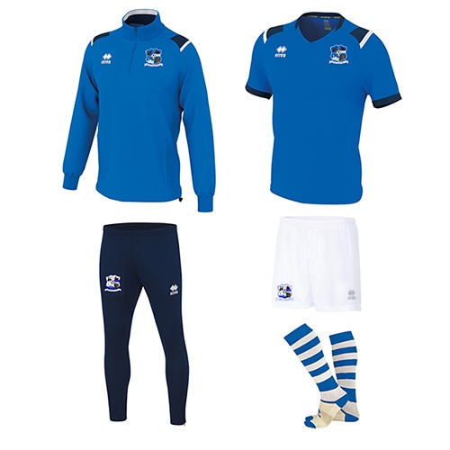 Combo 3- LARS 1-4 Zip+LUCAS Set+Zone Socks+Skinny-Maree Oranmore FC-ERREA-M2Sport