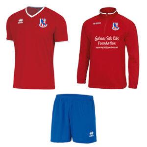 Training Combo- Mansel 1/4 zip + Lennox jersey set-Knocknacarra FC-ERREA-M2Sport