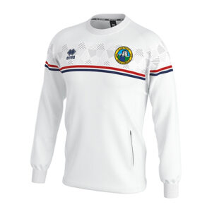 DAVIS sweatshirt white-Ballymackey FC-ERREA-M2Sport