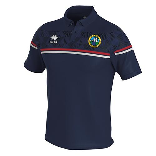 DOMINIC polo navy-Ballymackey FC-ERREA-M2Sport