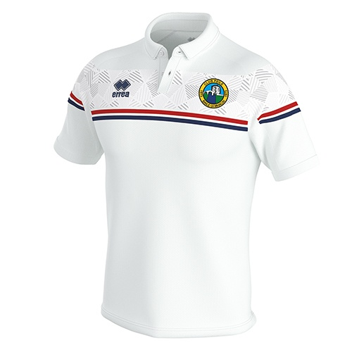 DOMINIC Polo white-Ballymackey FC-ERREA-M2Sport